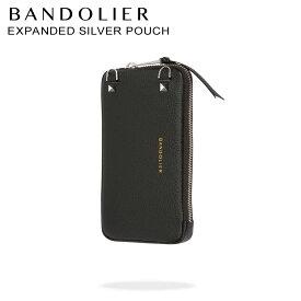 BANDOLIER バンドリヤー ケース ポーチ スマホ 携帯 レザー EXPANDED SILVER POUCH メンズ レディース ブラック 黒 21GRA
