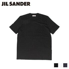 【最大2000円OFFクーポン】 ジルサンダー JIL SANDER Tシャツ メンズ レディース 半袖 カットソー 無地 CREW NECK T-SHIRT ブラック ホワイト ダーク ブルー 黒 白 JSMP706020 MP247308