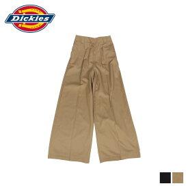 ディッキーズ Dickies ワークパンツ パンツ ワイドパンツ レディース WIDE PANT ブラック ベージュ 黒 DK006680