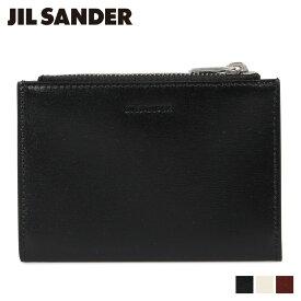 ジルサンダー JIL SANDER 財布 二つ折り メンズ 本革 VERTICAL ZIP WALLET ブラック オフ ホワイト ブラウン 黒 JSMP840074 MPS00015N