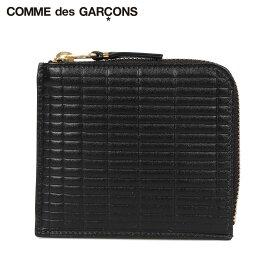 コムデギャルソン COMME des GARCONS 財布 ミニ財布 メンズ レディース L字ファスナー 本革 BRICK WALLET ブラック 黒 SA3100BK