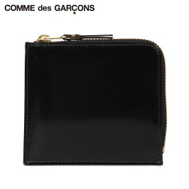 【最大600円OFFクーポン】 コムデギャルソン COMME des GARCONS 財布 小銭入れ コインケース メンズ レディース L字ファスナー 本革 MIRROR INSIDE COIN CASE ブラック 黒 SA3100MI