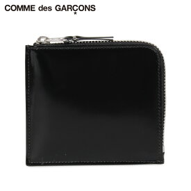 コムデギャルソン COMME des GARCONS 財布 小銭入れ コインケース メンズ レディース L字ファスナー 本革 MIRROR INSIDE COIN CASE ブラック 黒 SA3100MI