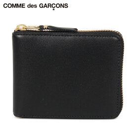 コムデギャルソン COMME des GARCONS 財布 二つ折り メンズ レディース ラウンドファスナー 本革 CLASSIC WALLET ブラック 黒 SA7100 [9/9 追加入荷]