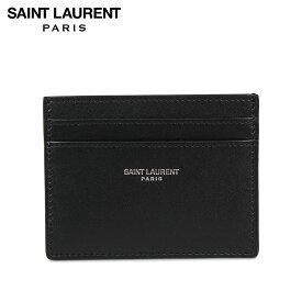 【最大2000円OFFクーポン】 サンローラン パリ SAINT LAURENT PARIS パスケース カードケース ID 定期入れ メンズ 本革 YSL CREDIT CARD CASE ブラック 黒 3759460U90N