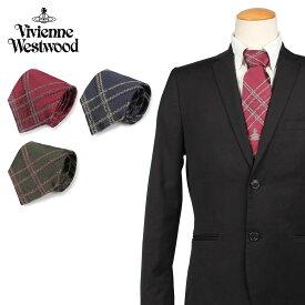 【最大2000円OFFクーポン】 ヴィヴィアンウエストウッド Vivienne Westwood ネクタイ メンズ チェック CHECK TIE 11120