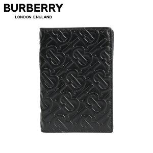 【クリアランス価格】 バーバリー BURBERRY パスポートケース パスポートホルダー メンズ MONOGRAMMED LEATHER PASSPORT CASE ブラック 黒 8014445
