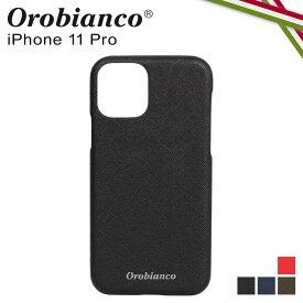 【最大2000円OFFクーポン】 オロビアンコ Orobianco iPhone11 Pro ケース スマホ 携帯 アイフォン メンズ レディース サフィアーノ調 PU LEATHER BACK CASE ブラック ネイビー カーキ レッド 黒
