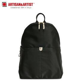 【最大2000円OFFクーポン】 アルティザン&アーティスト ARTISAN&ARTIST リュック バッグ バックパック レディース NEW SLIM ブラック 黒 8WB-NS01
