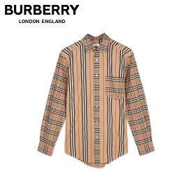 バーバリー BURBERRY シャツ 長袖 オックスフォードシャツ メンズ チェック ストライプ SHIRTS ベージュ 8010640