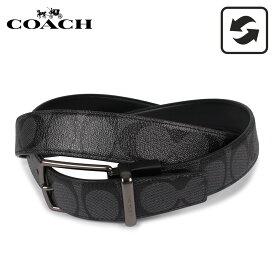コーチ COACH ベルト レザーベルト メンズ リバーシブル ブラック 黒 F64825-CQBK