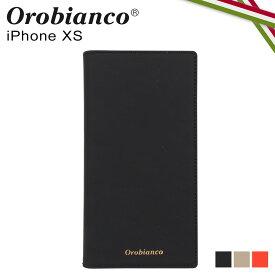 【最大2000円OFFクーポン】 オロビアンコ Orobianco iPhoneXS ケース スマホ 携帯 手帳型 アイフォン メンズ レディース GOMMA BOOK TYPE SMARTPHONE CASE ブラック グレージュ オレンジ 黒 ORIP-0007XS