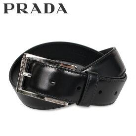 【最大2000円OFFクーポン】 プラダ PRADA ベルト レザーベルト メンズ VITELLO LUX ブラック 黒 2CC001-X72