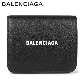 バレンシアガ BALENCIAGA 財布 二つ折り ミニ財布 メンズ レディース COIN AND CARD FLAP ブラック 黒 594216 [4/14 新入荷]