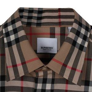 バーバリーBURBERRYシャツ長袖オックスフォードシャツメンズチェックSHIRTSベージュ8020863