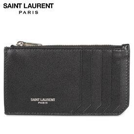 サンローラン パリ SAINT LAURENT PARIS カードケース 名刺入れ 定期入れ メンズ FRAGMENT ZIP POUCH ブラック 黒 6093620U90N