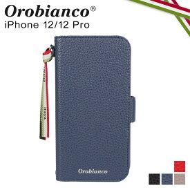 【最大1000円OFFクーポン】 オロビアンコ Orobianco iPhone 12 mini 12 12 Pro ケース スマホ 携帯 手帳型 アイフォン メンズ レディース シュリンク調 PU LEATHER BOOK TYPE CASE ブラック ネイビー グレージュ レッド 黒