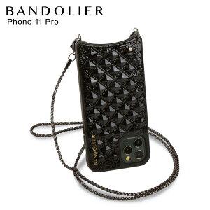 BANDOLIER バンドリヤー iPhone11 Pro ケース スマホ 携帯 ショルダー アイフォン シーラ メンズ レディース SHEILA BLACK ブラック 黒 10SHBLKP