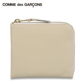 コムデギャルソン COMME des GARCONS 財布 小銭入れ コインケース メンズ レディース L字ファスナー ARECALF ホワイト 白 SA3100