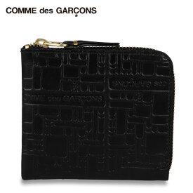 コムデギャルソン COMME des GARCONS 財布 小銭入れ コインケース メンズ レディース L字ファスナー EMBOSSED LOGOTYPE ブラック 黒 SA3100EL