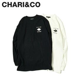 CHARI&CO チャリアンドコー Tシャツ メンズ 長袖 ロンT VICTIM TO VICTORY L/S TEE ブラック ホワイト 黒 白