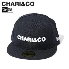 CHARI&CO チャリアンドコー ニューエラ NEW ERA キャップ 帽子 メンズ レディース 59FIFTY AUTHENTIC CAP コラボ ネイビー [8/27 新入荷]