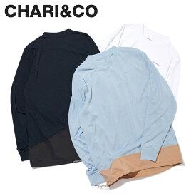 CHARI&CO チャリアンドコー Tシャツ 長袖 カットソー ロンT メンズ MOUNT PKT L/S TEE ブラック ホワイト ブルー ベージュ 黒 白 [2月上旬 新入荷]