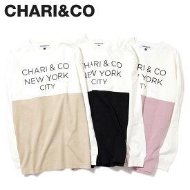 CHARI&CO チャリアンドコー Tシャツ 長袖 カットソー ロンT メンズ BI-TONE L/S TEE ホワイト 白 [2月上旬 新入荷]