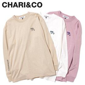 CHARI&CO チャリアンドコー Tシャツ 長袖 カットソー ロンT メンズ U LOCK HEART L/S TEE ホワイト ベージュ ローズ ピンク 白 [2月上旬 新入荷]
