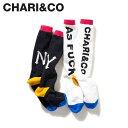 【最大2000円OFFクーポン】 CHARI&CO チャリアンドコー 靴下 ソックス ハイソックス メンズ AF KNEE-HIGH SOCKS ブラック ホワイト 黒 白