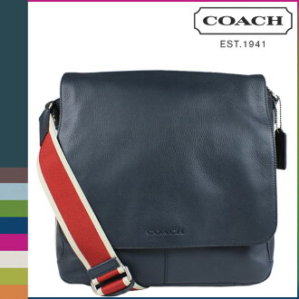 coach sale outlet ae5m  Coach COACH mens Messenger bag F70555 Navy * red shoulder bag HWC canvas  leather map Messenger [2 / 2 new in stock] regular outlet