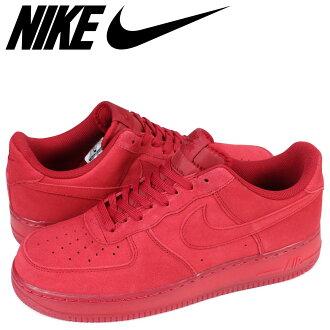 耐克NIKE空军1运动鞋AIR FORCE 1 07 LV8 RED SUEDE 718152-601人鞋红