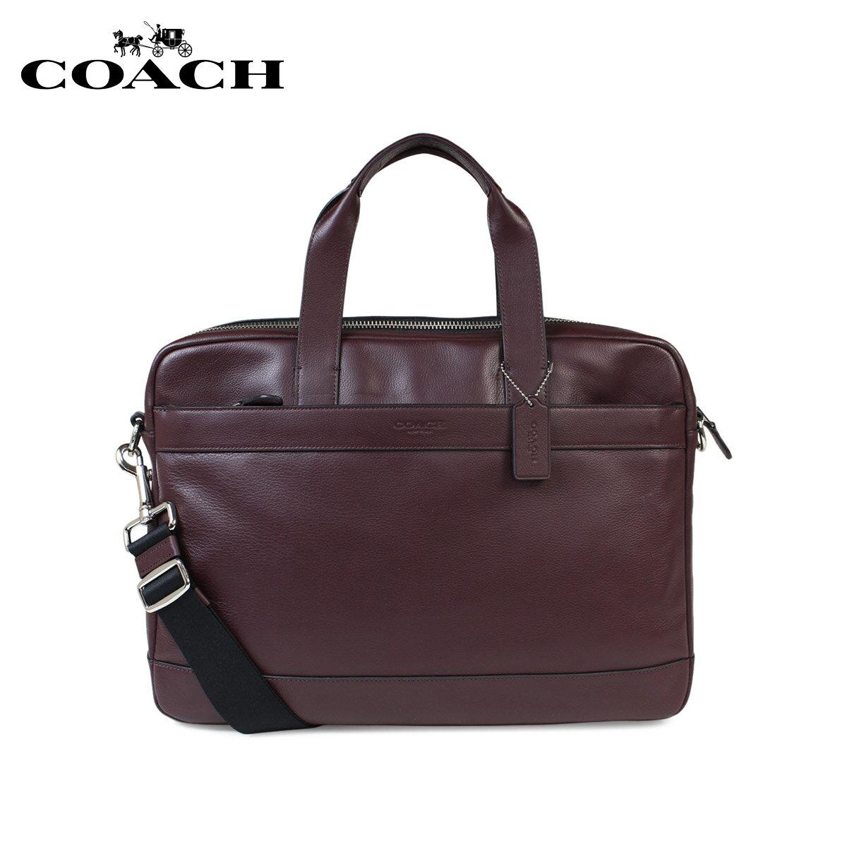 【訳あり】コーチ COACH バッグ ショルダーバッグ ビジネス メンズ ブリーフケース レザー F54801 オックスブラッド レッド 【返品不可】