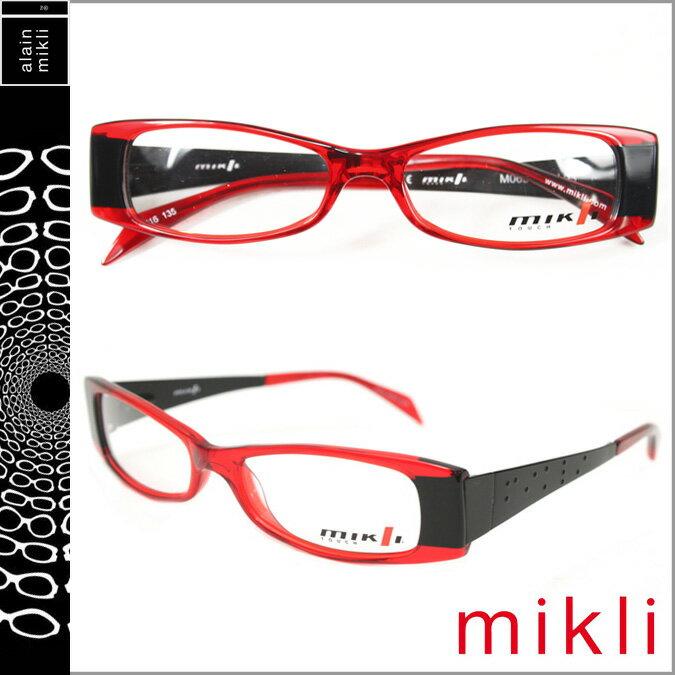 アランミクリ alain mikli メガネ 眼鏡 レッド ブラック M0634 03 セルフレーム サングラス メンズ レディース 【CLEARANCE】【返品不可】