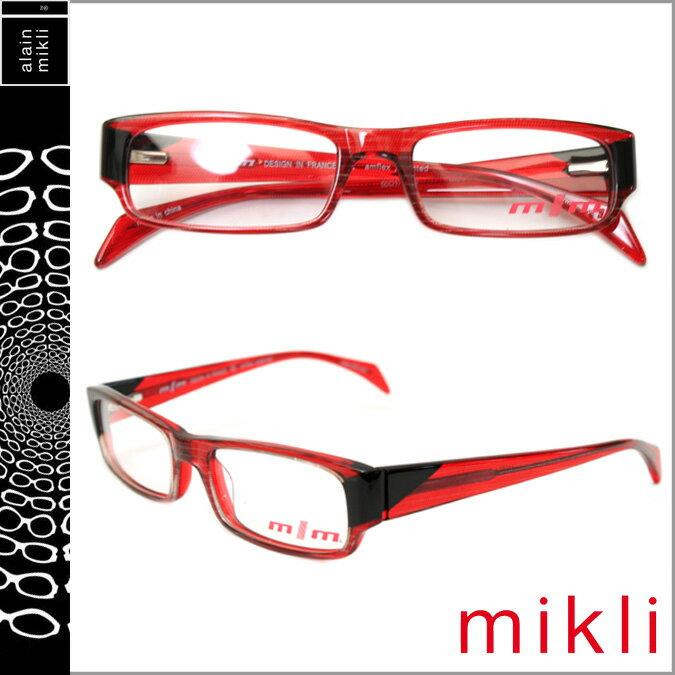 アランミクリ alain mikli メガネ 眼鏡 M0804 03 レッド ブラック セルフレーム アランミクリ 眼鏡 サングラス メンズ レディース 【CLEARANCE】【返品不可】