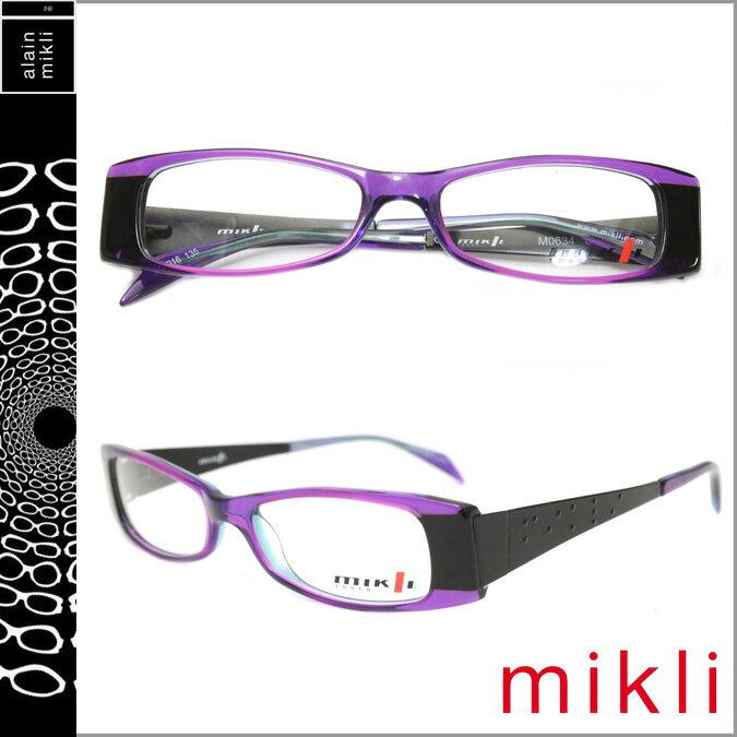 アランミクリ alain mikli メガネ 眼鏡 パープル ブラック M0634 04 セルフレーム サングラス メンズ レディース 【CLEARANCE】【返品不可】