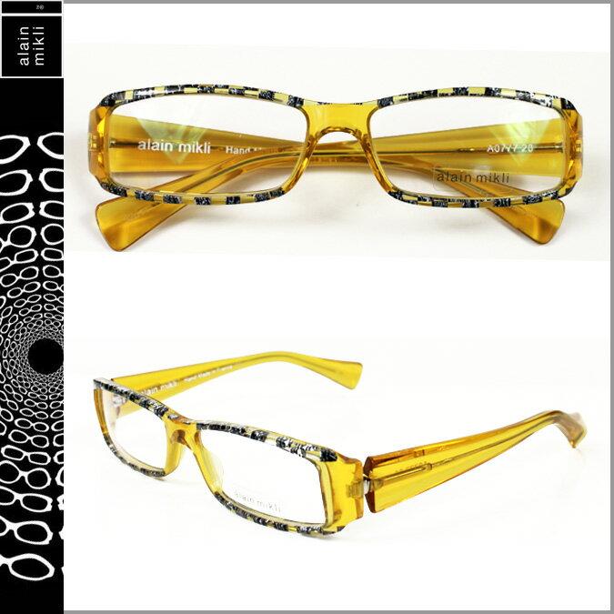 アランミクリ alain mikli メガネ 眼鏡 イエロー YLW-04 A0777-20 セルフレーム サングラス メンズ レディース 【CLEARANCE】【返品不可】