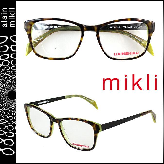 アランミクリ alain mikli メガネ 眼鏡 ブラウン グリーン ML1226 C01Z セルフレーム サングラス メンズ レディース 【CLEARANCE】【返品不可】