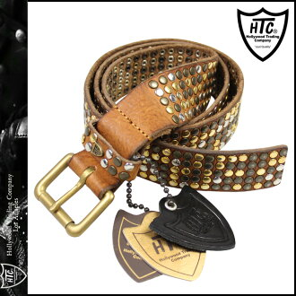 [SOLD OUT]H球座海HTC Hollywood Trading Company sutazzuberutoreza 14WHTCI001棕色5000 STUDS CLASSIC BELT人