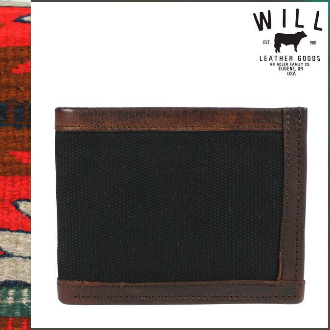 ウィルレザーグッズ WILL LEATHER GOODS レザー 二つ折り 財布 20885 ブラック ブラウン ETHAN BILLFOLRD メンズ 【CLEARANCE】【返品不可】