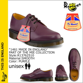 [卖出] 博士马滕斯 Dr.Martens R13762510 MIE 1461 3 厅鞋英格兰皮革男装女装 3 眼鞋 [紫色] 制造