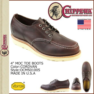 Chippewa CHIPPEWA 4-inch wise leather men's モックトゥ shoes [cordovan] OCM501005 4INCH MOC TOE SHOES D [regular]