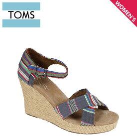 TOMS レディース トムス シューズ サンダル toms shoes トムズ WOMEN'S STRAPPY WEDGES トムズシューズ
