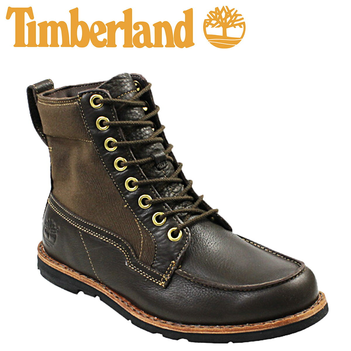 Timberland Timberland Earthkeepers Rugged Canvas Panel Boots [Brown] EARTHKEEPERS  RUGGED CAVAS PANEL BOOT Leather Menu0027s 5629R [4 / 3 New In Stock] [regular]