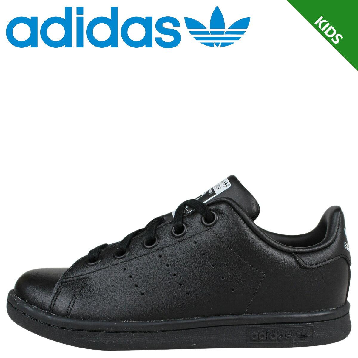 アディダス スタンスミス キッズ adidas Originals スニーカー STAN SMITH EL C 靴 ブラック BA8376