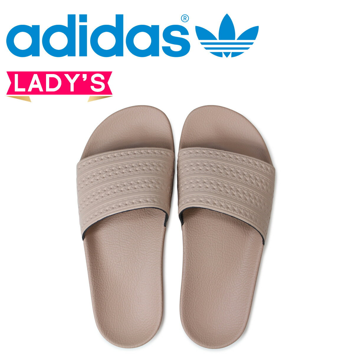 アディダス アディレッタ adidas Originals レディース サンダル シャワーサンダル WOMENS ADILETTE SLIDES CQ2235 ピンクベージュ オリジナルス [予約商品 4/19頃入荷予定 新入荷]