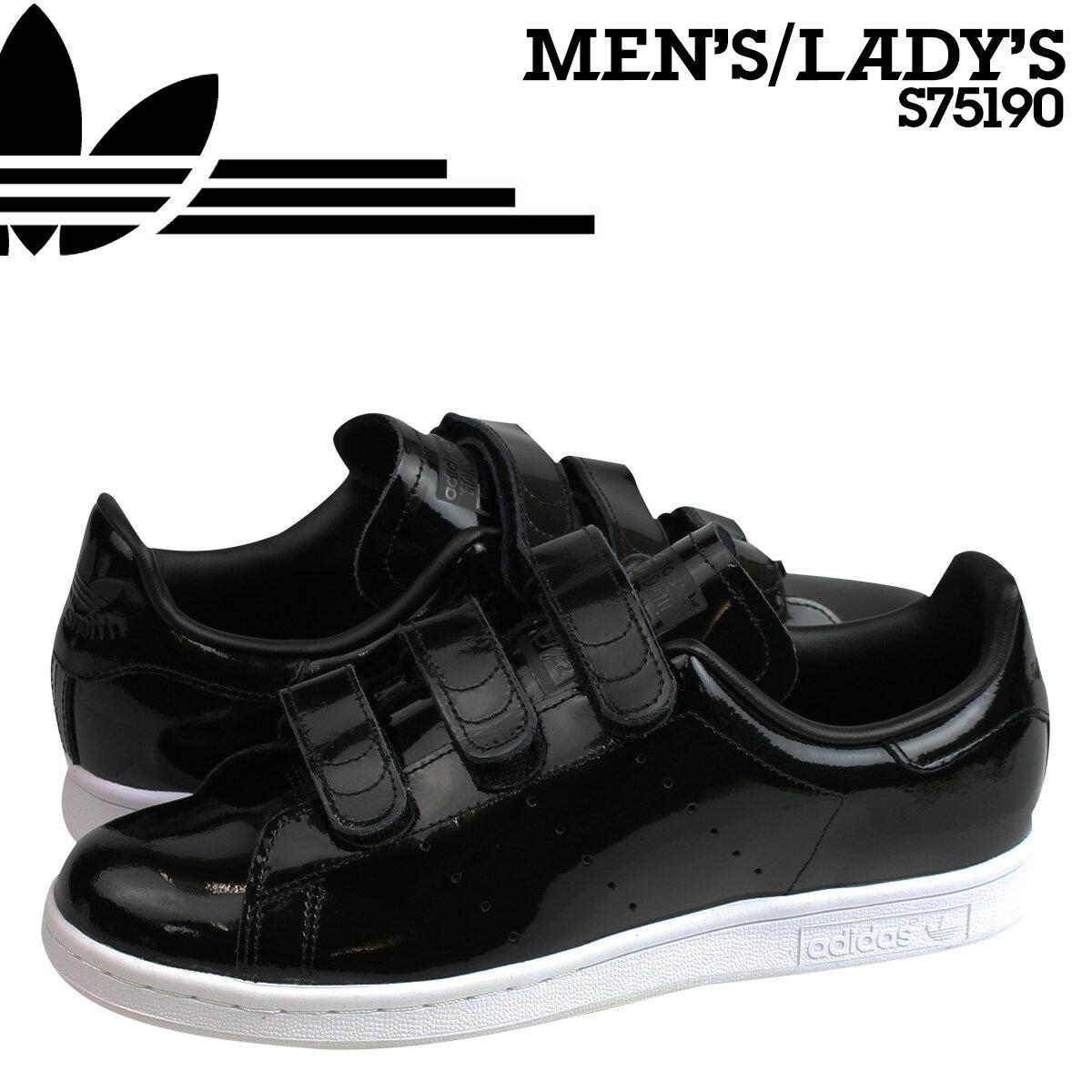 アディダス スタンスミス ベルクロ adidas Originals スニーカー STAN SMITH CF メンズ レディース S75190 靴 ブラック オリジナルス