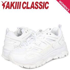アキクラシック AKIII CLASSIC ランブル スニーカー ダッドシューズ レディース 厚底 RUMBLE ホワイト 白 AKC-0001