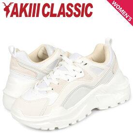 アキクラシック AKIII CLASSIC キャスパー スニーカー ダッドシューズ レディース 厚底 CASPER ホワイト 白 AKC-0004