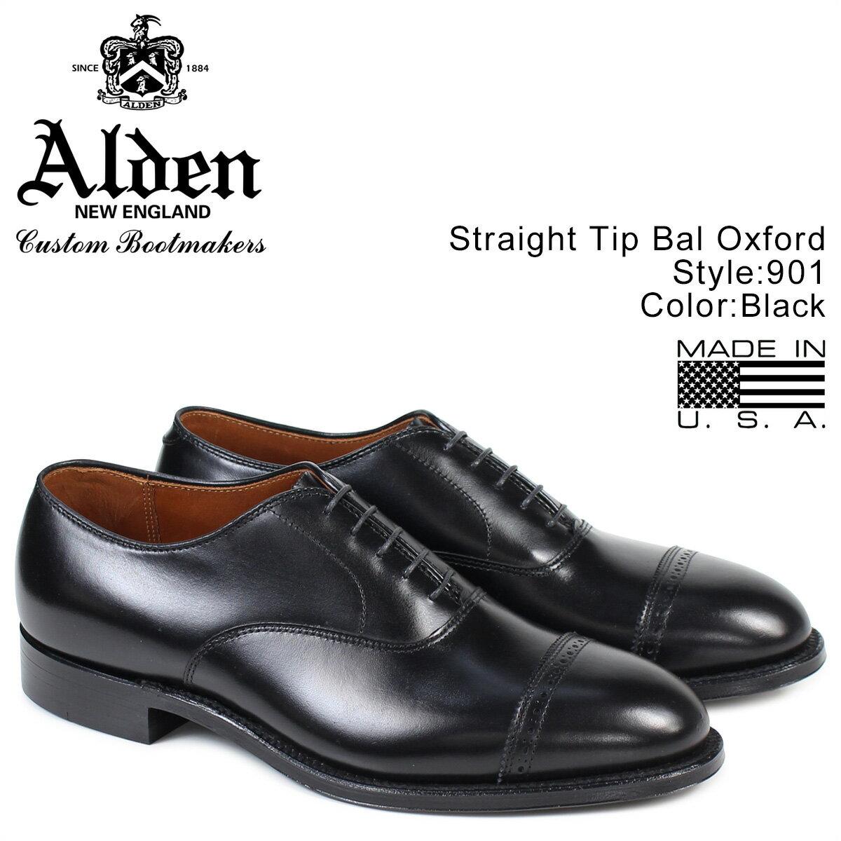 ALDEN オールデン ストレートチップ シューズ STRAIGHT TIP BAL OXFORD Dワイズ 901 メンズ